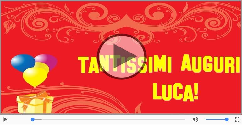 Cartoline musicali di auguri - Tanti auguri, Luca!
