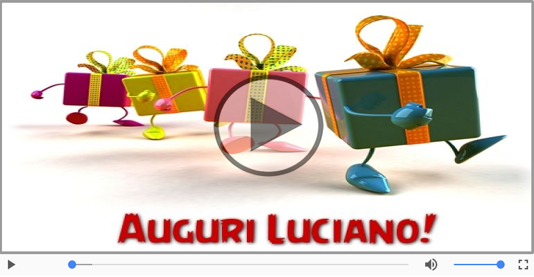 Cartoline musicali di auguri - Tanti auguri, Luciano!