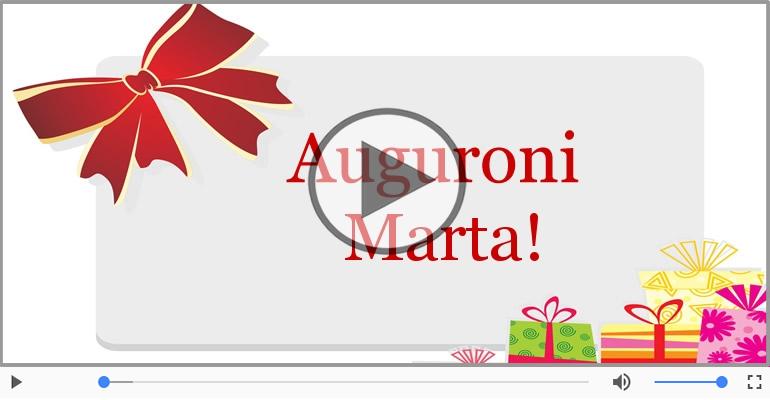 Cartoline musicali di auguri - Tanti auguri, Marta!