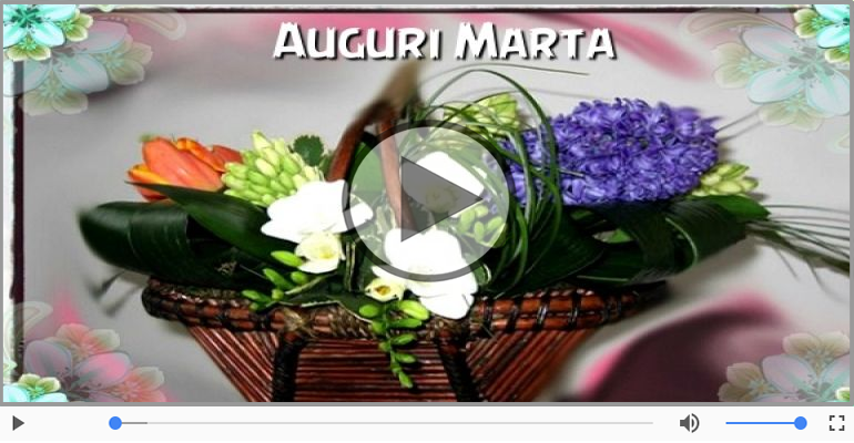 Cartoline musicali di auguri - Tanti auguri a te Marta!