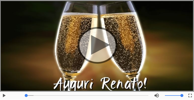 Cartoline musicali di auguri - Tanti auguri Renato!