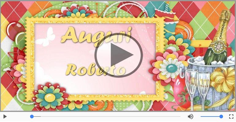 Cartoline musicali di auguri - Tanti auguri, Roberto!
