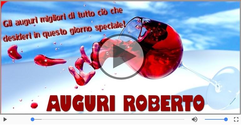 Cartoline musicali di auguri - Tanti Auguri di Buon Compleanno Roberto!