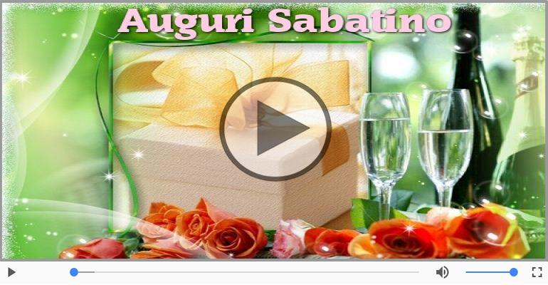 Cartoline musicali di auguri - Tanti auguri a te Sabatino!