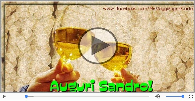 Cartoline musicali di auguri - Tanti auguri Sandro!