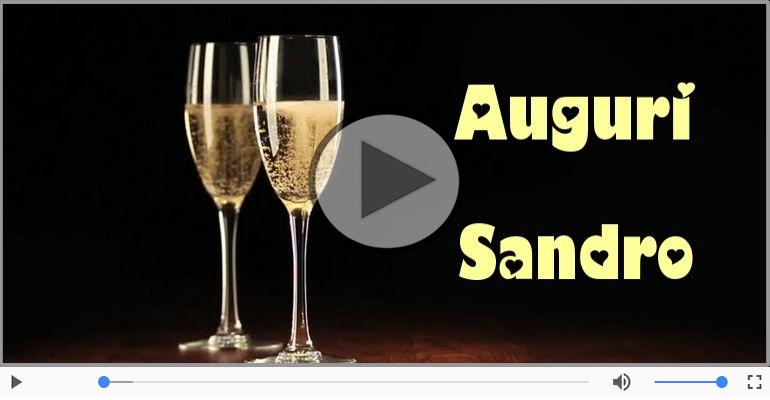 Cartoline musicali di auguri - Tanti auguri a te Sandro!