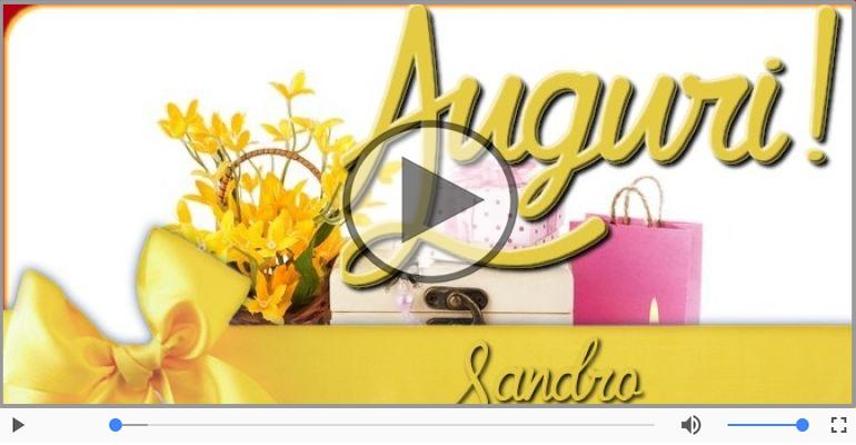 Cartoline musicali di auguri - Tanti auguri, Sandro!