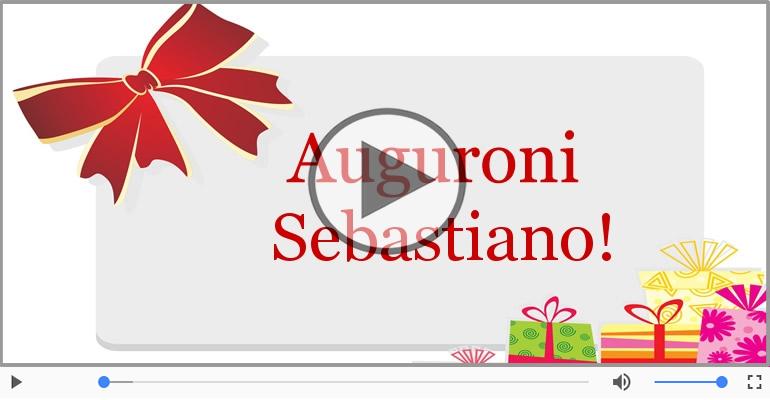 Cartoline musicali di auguri - Tanti auguri a te Sebastiano!