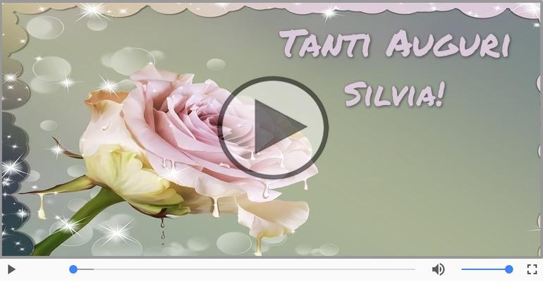 Cartoline musicali di auguri - Tanti Auguri di Buon Compleanno Silvia!