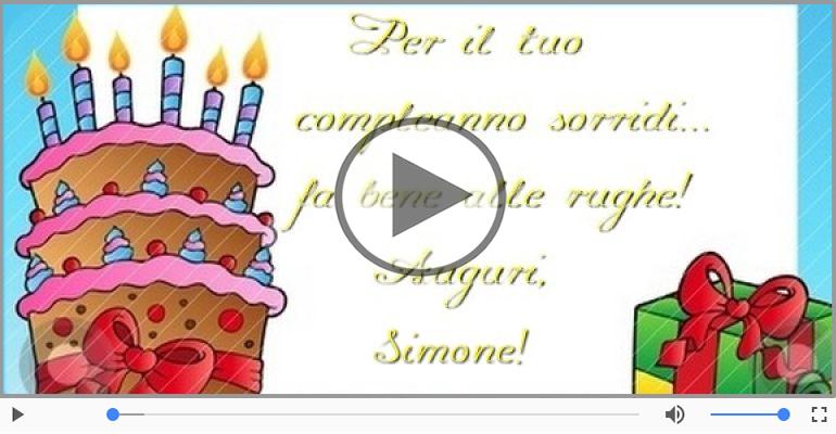 Cartoline musicali di auguri - Tanti auguri Simone!