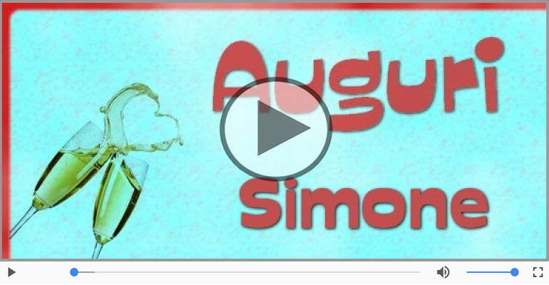 Cartoline musicali di auguri - Tanti auguri, Simone!