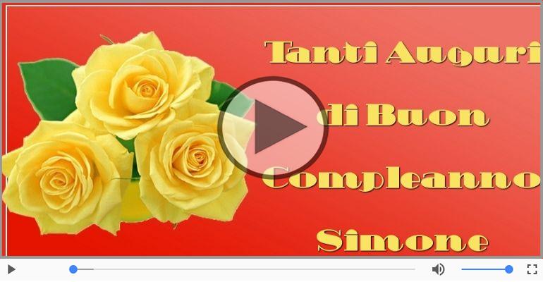 Cartoline musicali di auguri - Tanti Auguri di Buon Compleanno Simone!