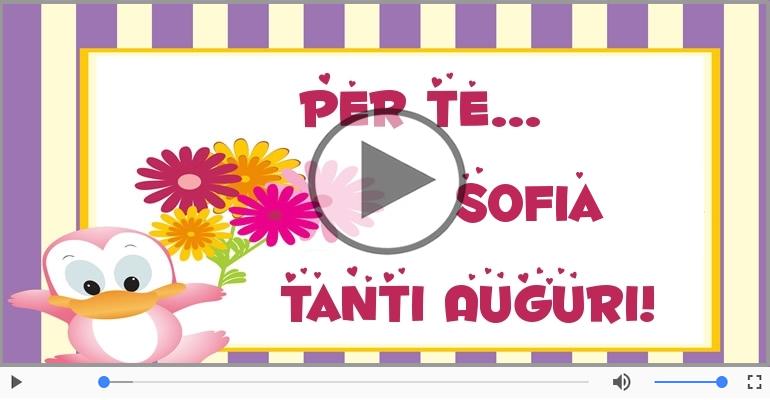 Cartoline musicali di auguri - Tanti auguri, Sofia!