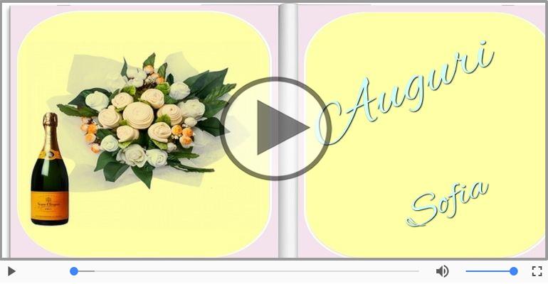 Cartoline musicali di auguri - Tanti Auguri di Buon Compleanno Sofia!
