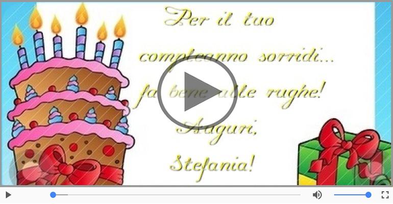 Cartoline musicali di auguri - Tanti auguri Stefania!