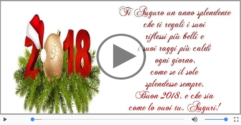 Cartoline musicali di Buon Anno - Buon 2018, e che sia come lo vuoi tu. Auguri!