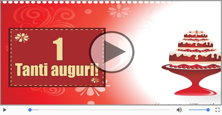 Cartoline musicali Per 1 anno - 1 anno Buon Compleanno!