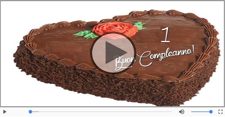 Cartoline musicali Per 1 anno - Cartoline animate e musicali: Buon Compleanno 1 anno!