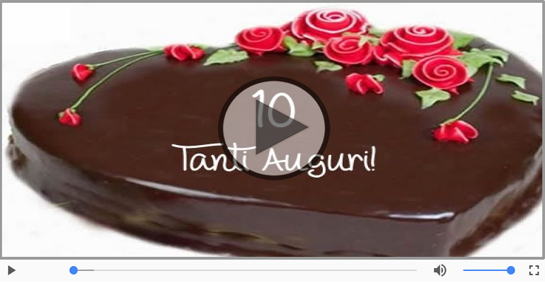 Cartoline musicali Per 10 anni - Happy Birthday 10 anni!