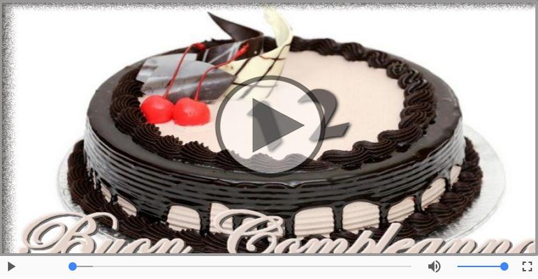Cartoline musicali Per 12 anni - Happy Birthday 12 anni!