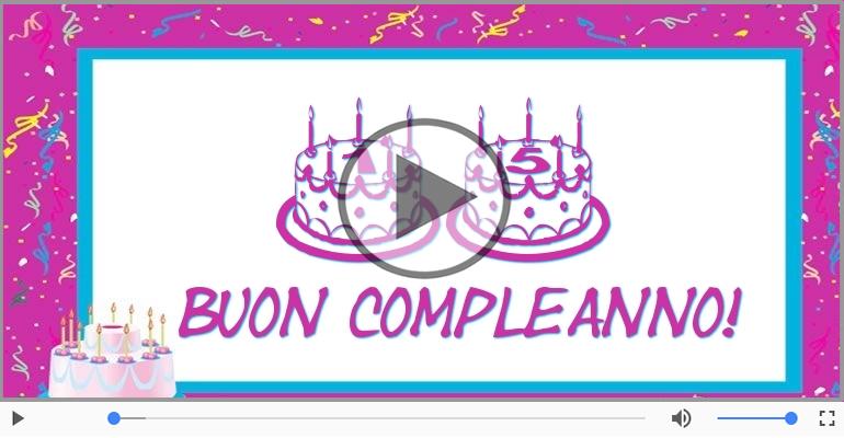 Cartoline musicali Per 15 anni - Cartoline musicali: Buon Compleanno 15 anni!