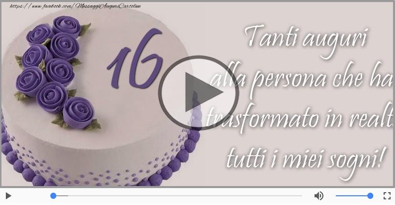 Cartoline musicali Per 16 anni - 16 anni, Tanti Auguri!