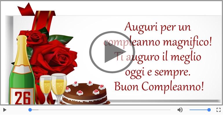 Cartoline musicali Per 26 anni - 26 anni, Tanti Auguri!