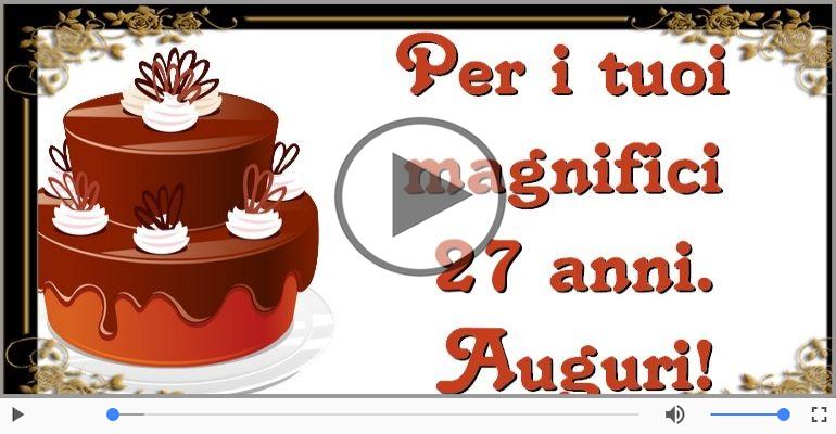 Cartoline musicali Per 27 anni - Cartoline musicali: Buon Compleanno 27 anni!