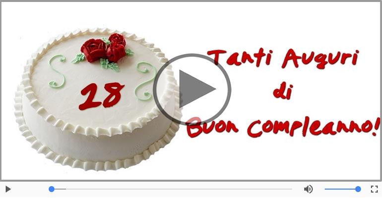 Cartoline musicali Per 28 anni - Cartoline musicali: Buon Compleanno 28 anni!