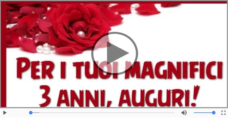 Cartoline musicali Per 3 anni - 3 anni, Tanti Auguri!
