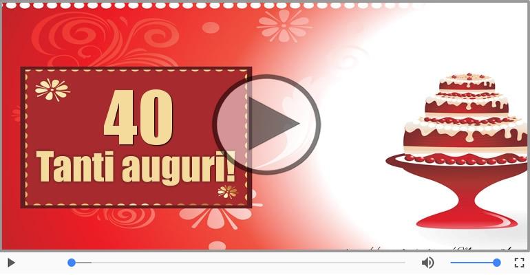 Cartoline musicali Per 40 anni - Cartoline musicali: Buon Compleanno 40 anni!