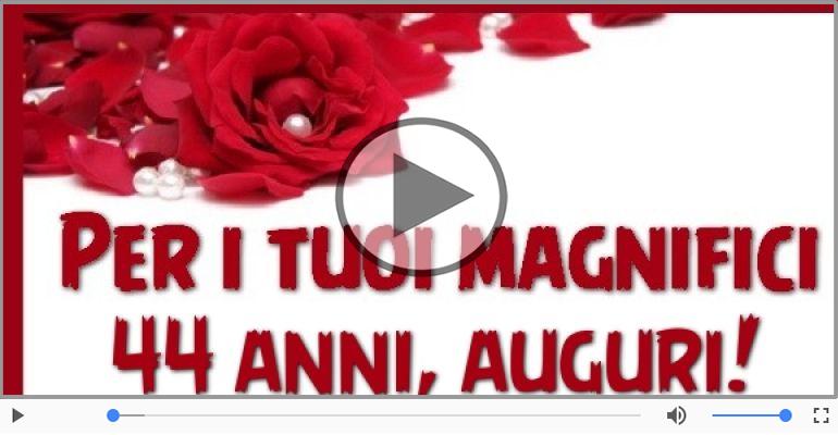 Cartoline musicali Per 44 anni - 44 anni, Tanti Auguri!