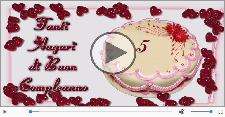 Cartoline musicali Per 5 anni - 5 anni, Tanti Auguri!
