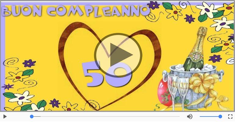 Cartoline musicali Per 50 anni - Happy Birthday 50 anni!