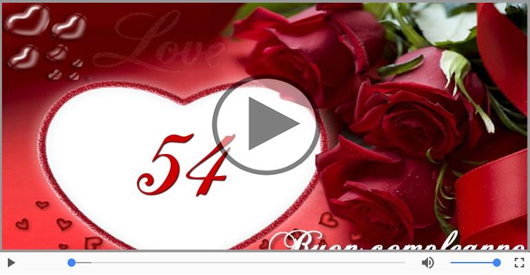 Cartoline musicali Per 54 anni - Cartoline musicali: Buon Compleanno 54 anni!