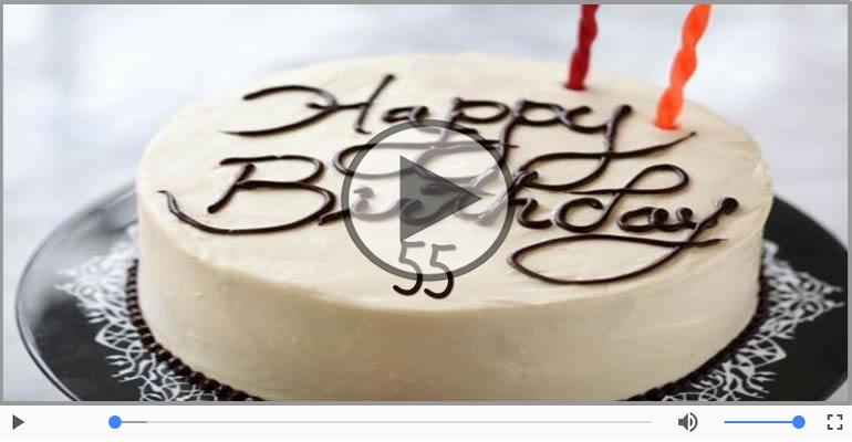 Cartoline musicali Per 55 anni - Happy Birthday 55 anni!