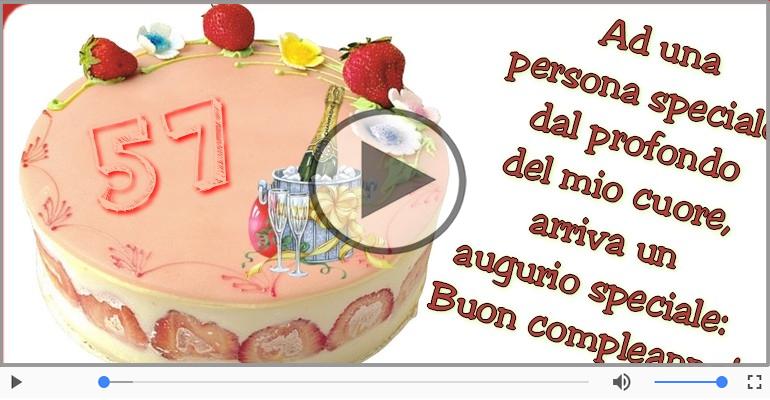 Cartoline musicali Per 57 anni - Cartoline animate e musicali: Buon Compleanno 57 anni!