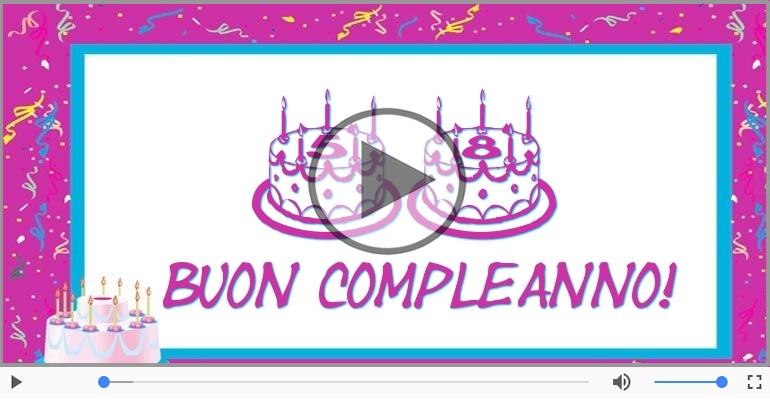 Cartoline musicali Per 58 anni - Happy Birthday 58 anni!