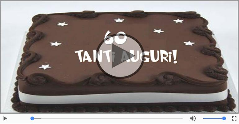 Cartoline musicali Per 60 anni - Cartoline animate e musicali: Buon Compleanno 60 anni!