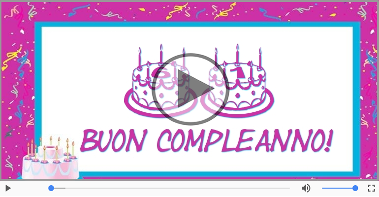 Cartoline musicali Per 61 anni - Cartoline musicali: Buon Compleanno 61 anni!