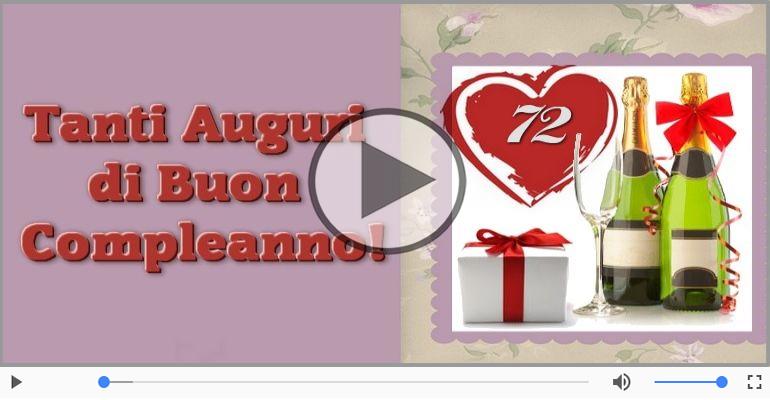 Cartoline musicali Per 72 anni - 72 anni, Tanti Auguri!