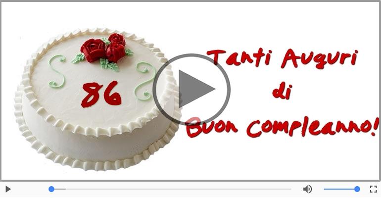 Cartoline musicali Per 86 anni - Cartoline musicali: Buon Compleanno 86 anni!
