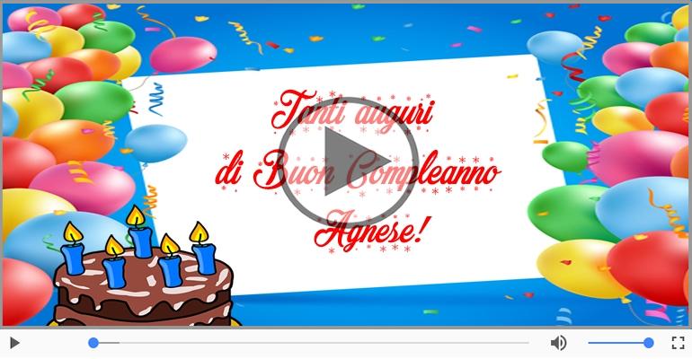 Top Cartoline musicali con il nome Agnese | Compleanno  QO63
