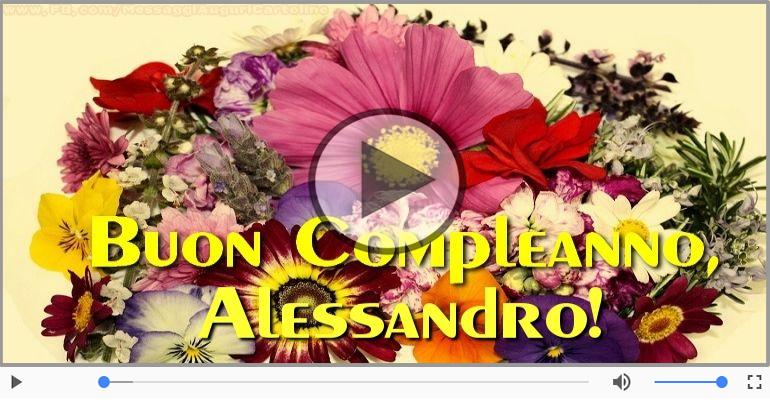 Popolare Cartoline musicali con il nome Alessandro | Compleanno  TD91