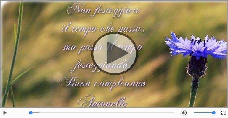 Cartoline musicali di compleanno - Happy Birthday Antonello! Buon Compleanno Antonello!