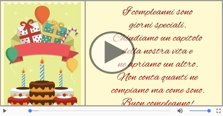 Cartoline musicali di compleanno - Buon compleanno!
