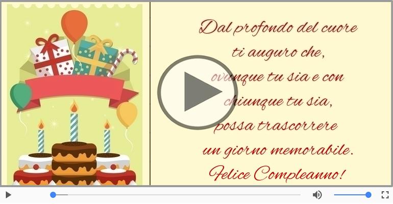 Cartoline musicali di compleanno - Felice Compleanno!