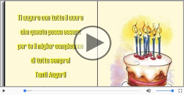 Cartoline musicali di compleanno - Tanti Auguri! Buon Compleanno!