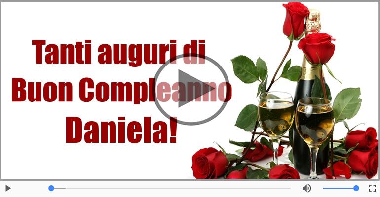 Popolare Cartoline musicali con il nome Daniela   Compleanno  DU09