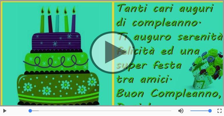 Cartoline musicali di compleanno - Buon Compleanno Daniele!